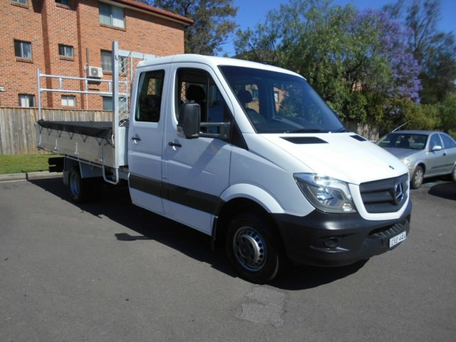 Used Mercedes-Benz Sprinter 906 MY14 516CDI LWB Bankstown, 2014 Mercedes-Benz Sprinter 906 MY14 516CDI LWB White 6 Speed Manual Dual Cab Chassis