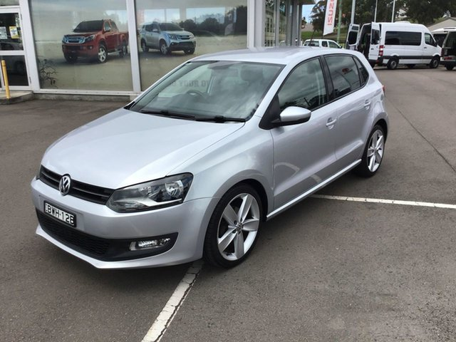 Pre-Owned Volkswagen Polo 6R MY11 66TDI DSG Comfortline Cardiff, 2011 Volkswagen Polo 6R MY11 66TDI DSG Comfortline Silver 7 Speed Sports Automatic Dual Clutch