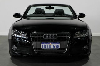 2010 Audi A5 8T MY10 S Tronic Quattro Black 7 Speed Sports Automatic Dual Clutch Cabriolet.