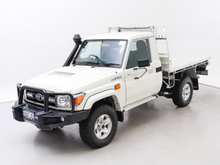 2016 Toyota Landcruiser VDJ79R MY12 Update GXL (4x4) White 5 Speed Manual Cab Chassis