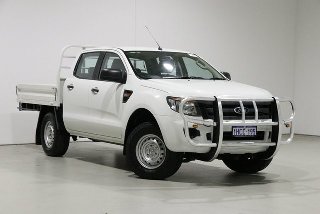 Used Ford Ranger PX XL 3.2 (4x4) Bentley, 2014 Ford Ranger PX XL 3.2 (4x4) White 6 Speed Manual Dual Cab Chassis