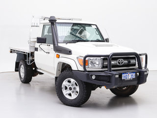 2016 Toyota Landcruiser VDJ79R MY12 Update GXL (4x4) White 5 Speed Manual Cab Chassis.