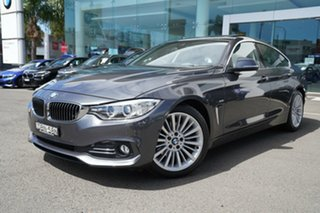2015 BMW 420d F36 MY15 Gran Coupe Luxury Line Mineral Grey 8 Speed Automatic Coupe.