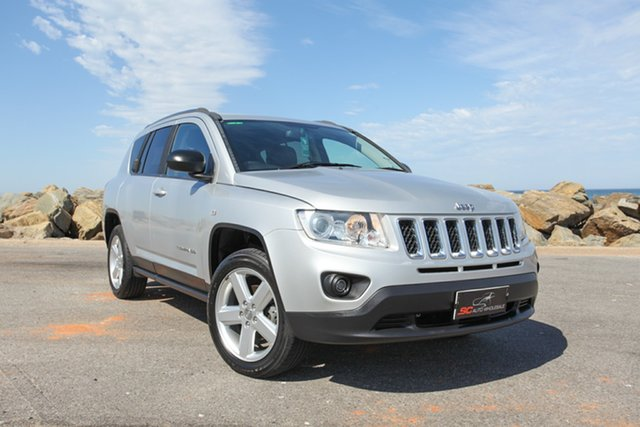 Used Jeep Compass MK MY13 Limited CVT Auto Stick Lonsdale, 2012 Jeep Compass MK MY13 Limited CVT Auto Stick Silver 6 Speed Constant Variable Wagon