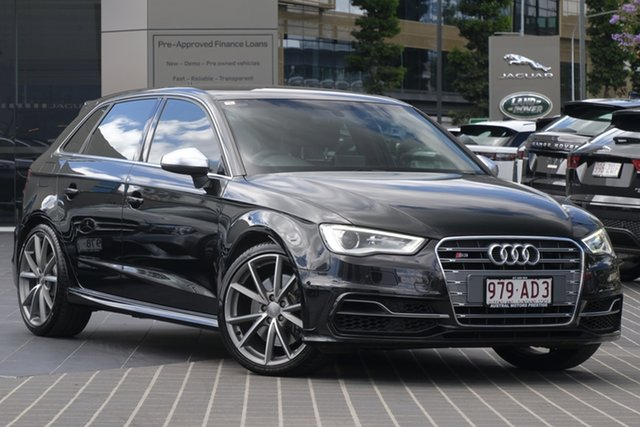 Used Audi S3 8V MY16 Sportback S Tronic Quattro Newstead, 2016 Audi S3 8V MY16 Sportback S Tronic Quattro Black 6 Speed Sports Automatic Dual Clutch Hatchback