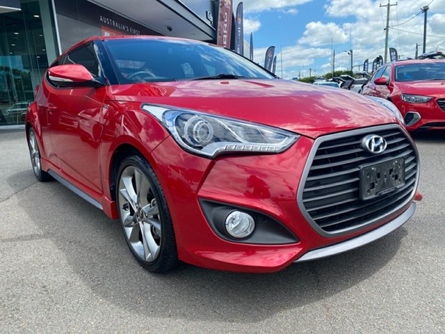 Used Hyundai Veloster FS4 Series II SR Coupe Turbo + Cardiff, 2015 Hyundai Veloster FS4 Series II SR Coupe Turbo + Red 6 Speed Manual Hatchback