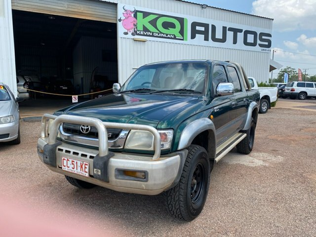 Used Toyota Hilux VZN167R MY02 SR5 Berrimah, 2003 Toyota Hilux VZN167R MY02 SR5 Green 5 Speed Manual Utility