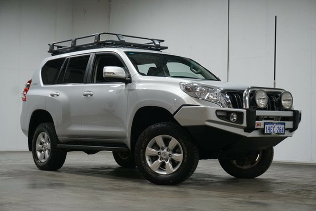 Used Toyota Landcruiser Prado KDJ150R MY14 GXL Welshpool, 2014 Toyota Landcruiser Prado KDJ150R MY14 GXL Silver 5 Speed Sports Automatic Wagon