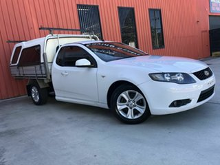 2010 Ford Falcon FG R6 Super Cab White 4 Speed Sports Automatic Cab Chassis.