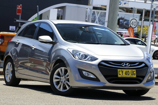 Used Hyundai i30 GD2 Active Parramatta, 2013 Hyundai i30 GD2 Active Silver 6 Speed Sports Automatic Hatchback