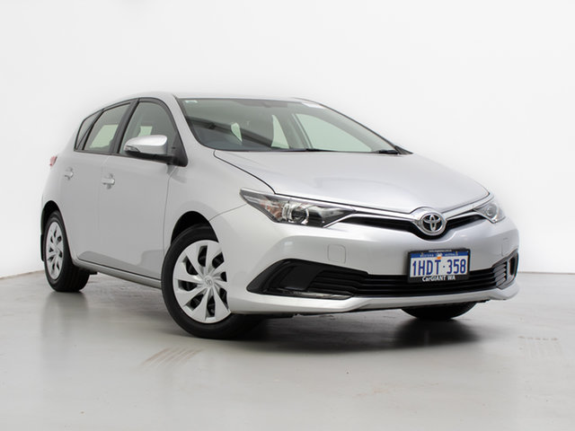 Used Toyota Corolla ZRE182R MY15 Ascent, 2017 Toyota Corolla ZRE182R MY15 Ascent Silver 7 Speed CVT Auto Sequential Hatchback