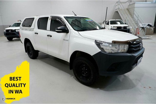 Used Toyota Hilux GUN125R Workmate Double Cab Kenwick, 2017 Toyota Hilux GUN125R Workmate Double Cab White 6 Speed Sports Automatic Utility