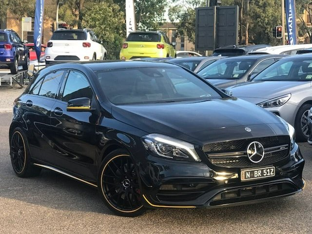 Used Mercedes-Benz A-Class W176 808+058MY A45 AMG SPEEDSHIFT DCT 4MATIC Liverpool, 2018 Mercedes-Benz A-Class W176 808+058MY A45 AMG SPEEDSHIFT DCT 4MATIC Black 7 Speed