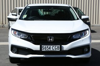 2020 Honda Civic 10th Gen MY20 VTi-L Platinum White 1 Speed Constant Variable Sedan