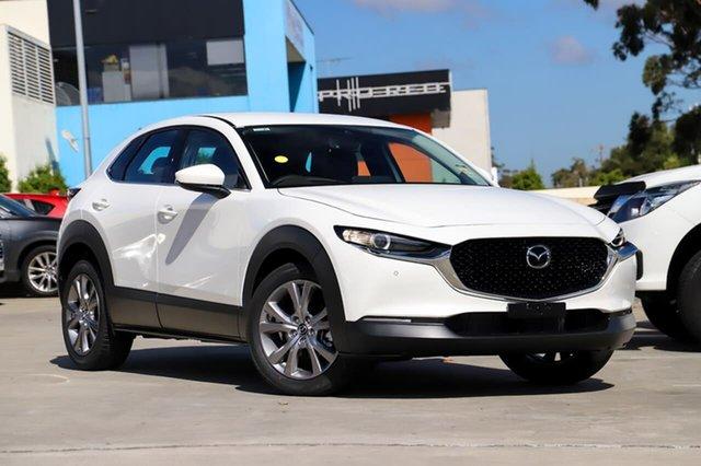 Demo Mazda CX-30 C30B G20 Touring (FWD) Kirrawee, 2020 Mazda CX-30 C30B G20 Touring (FWD) Snowflake White Pearl 6 Speed Automatic Wagon