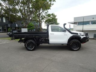 2015 Toyota Hilux GUN126R SR White 6 Speed Sports Automatic Cab Chassis