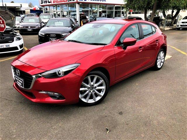 Used Mazda 3 BN5438 SP25 SKYACTIV-Drive GT Seaford, 2017 Mazda 3 BN5438 SP25 SKYACTIV-Drive GT Red 6 Speed Sports Automatic Hatchback