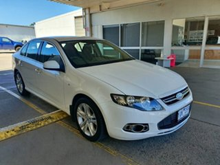2011 Ford Falcon FG G6 White 6 Speed Sports Automatic Sedan.