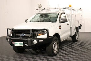 2015 Ford Ranger PX MkII XL White 6 speed Automatic Cab Chassis.