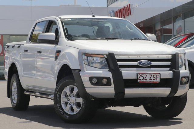 Pre-Owned Ford Ranger PX XLS Double Cab Woolloongabba, 2015 Ford Ranger PX XLS Double Cab White 6 Speed Manual Utility