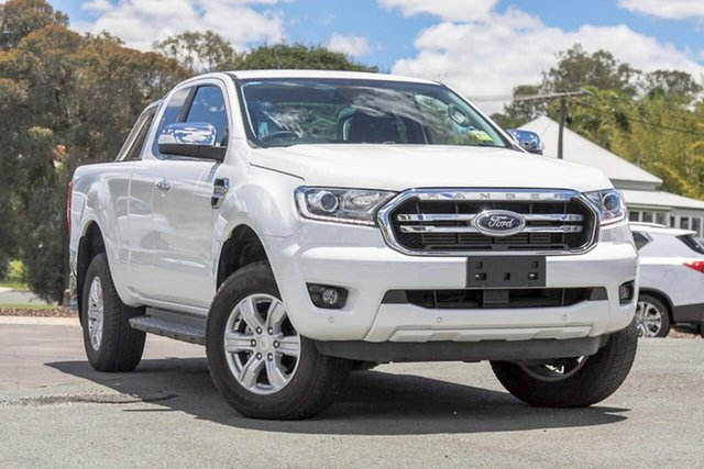 Used Ford Ranger PX MkIII 2019.00MY XLT Gympie, 2019 Ford Ranger PX MkIII 2019.00MY XLT Arctic White 10 Speed Sports Automatic Super Cab Pick Up