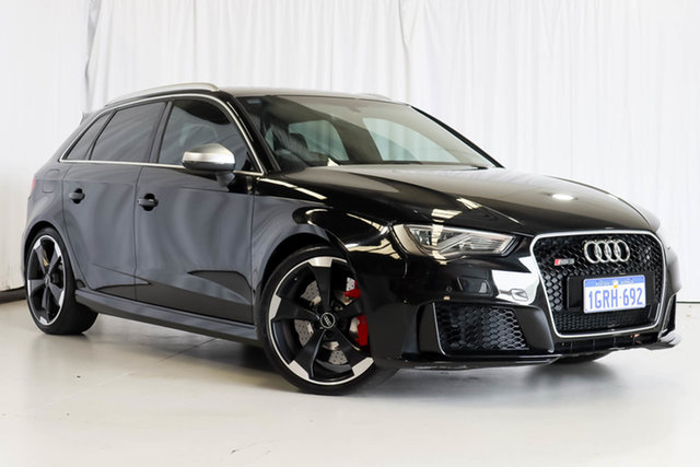 Used Audi RS 3 8V MY16 Sportback S Tronic Quattro Wangara, 2016 Audi RS 3 8V MY16 Sportback S Tronic Quattro Black 7 Speed Sports Automatic Dual Clutch