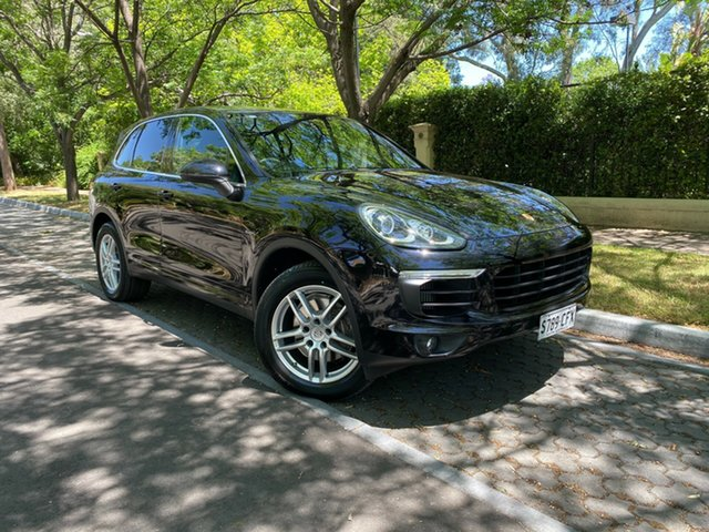 Used Porsche Cayenne 92A MY16 Diesel Tiptronic Hawthorn, 2015 Porsche Cayenne 92A MY16 Diesel Tiptronic Black 8 Speed Sports Automatic Wagon