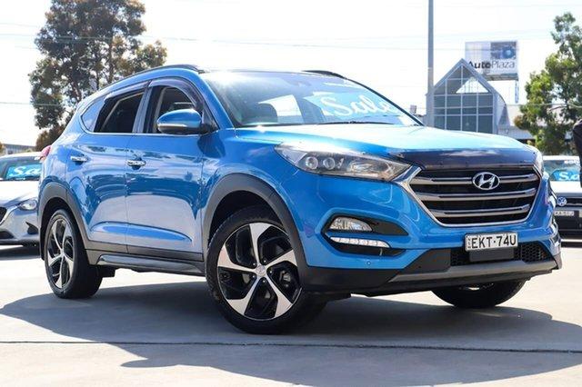 Used Hyundai Tucson TLE Highlander D-CT AWD Kirrawee, 2016 Hyundai Tucson TLE Highlander D-CT AWD Blue 7 Speed Sports Automatic Dual Clutch Wagon