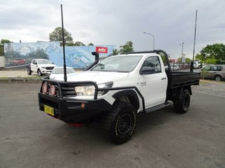 2015 Toyota Hilux GUN126R SR White 6 Speed Sports Automatic Cab Chassis.