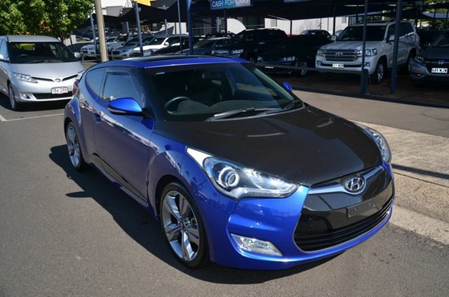 Used Hyundai Veloster FS MY13 SR Turbo Toowoomba, 2014 Hyundai Veloster FS MY13 SR Turbo Blue 6 Speed Automatic Coupe