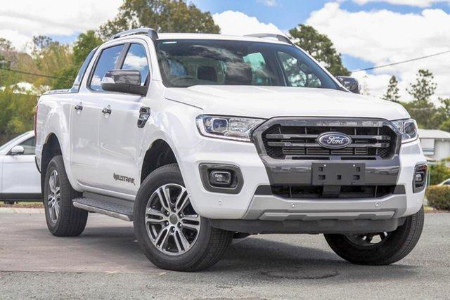 Used Ford Ranger PX MkIII 2020.25MY Wildtrak Gympie, 2020 Ford Ranger PX MkIII 2020.25MY Wildtrak Arctic White 10 Speed Sports Automatic