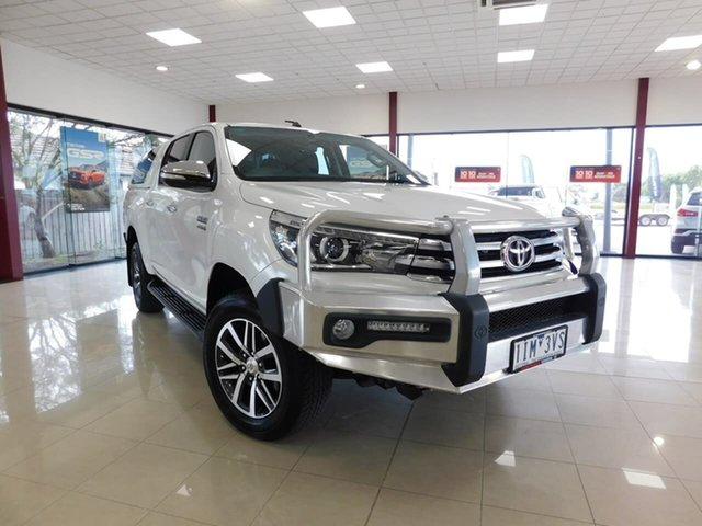 Used Toyota Hilux GUN126R SR5 Double Cab Wonthaggi, 2016 Toyota Hilux GUN126R SR5 Double Cab White 6 Speed Sports Automatic Utility