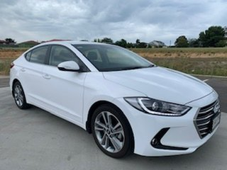 2018 Hyundai Elantra AD MY18 Elite White 6 Speed Sports Automatic Sedan.