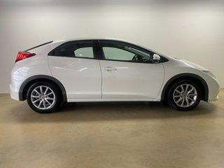 2012 Honda Civic FK VTi-S White 5 Speed Automatic Hatchback.