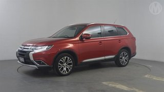 2016 Mitsubishi Outlander ZK MY16 XLS (4x2) Red Continuous Variable Wagon.