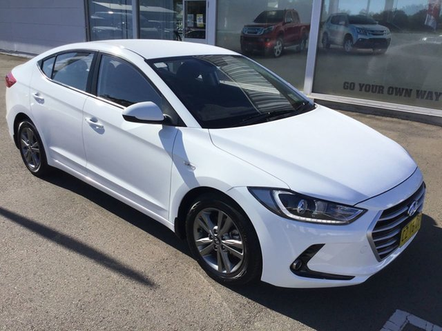 Pre-Owned Hyundai Elantra AD MY17 Active Cardiff, 2016 Hyundai Elantra AD MY17 Active White 6 Speed Sports Automatic Sedan