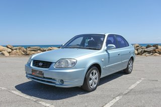 2004 Hyundai Accent LC MY04 GL Blue 5 Speed Manual Hatchback.