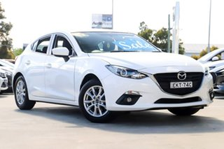 2015 Mazda 3 BM5478 Maxx SKYACTIV-Drive White 6 Speed Sports Automatic Hatchback.
