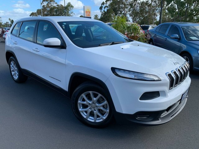 Used Jeep Cherokee KL MY15 Sport Bunbury, 2015 Jeep Cherokee KL MY15 Sport White 9 Speed Sports Automatic Wagon