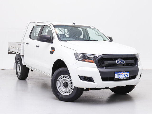 Used Ford Ranger PX MkII XL 2.2 (4x4), 2016 Ford Ranger PX MkII XL 2.2 (4x4) White 6 Speed Manual Crew Cab Chassis