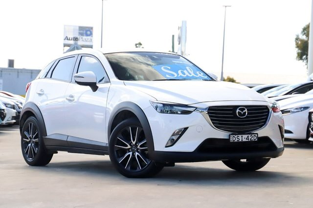 Used Mazda CX-3 DK2W7A sTouring SKYACTIV-Drive Kirrawee, 2017 Mazda CX-3 DK2W7A sTouring SKYACTIV-Drive White 6 Speed Sports Automatic Wagon
