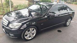 2008 Mercedes-Benz C-Class W204 C200 Kompressor Avantgarde Obsidian Black Metallic 5 Speed.