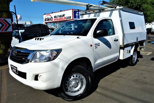Used Toyota Hilux KUN26R MY14 SR Seaford, 2014 Toyota Hilux KUN26R MY14 SR White 5 Speed Manual Cab Chassis