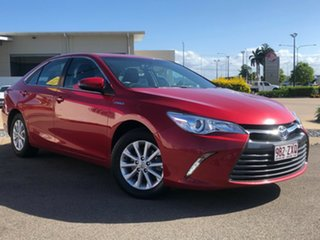 2015 Toyota Camry AVV50R Hybrid H Red 1 Speed Constant Variable Sedan.