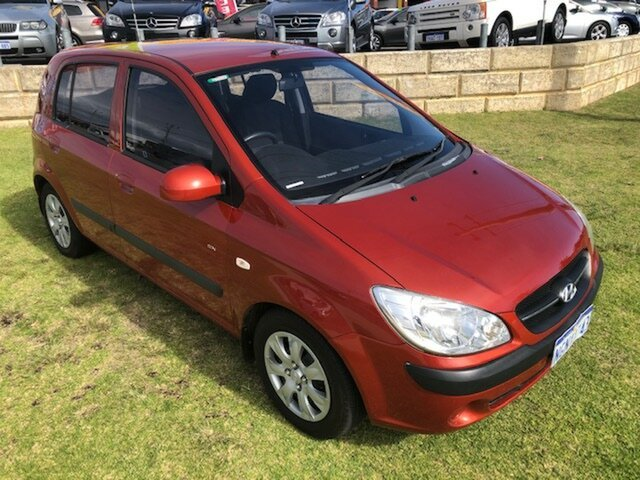 Used Hyundai Getz TB MY07 SX Wangara, 2008 Hyundai Getz TB MY07 SX Red 5 Speed Manual Hatchback