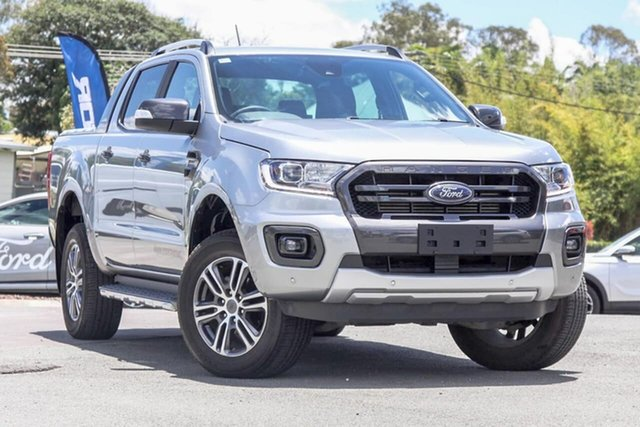 Used Ford Ranger PX MkIII 2020.25MY Wildtrak Gympie, 2020 Ford Ranger PX MkIII 2020.25MY Wildtrak Aluminium 10 Speed Sports Automatic Double Cab Pick Up