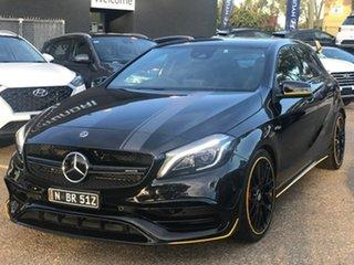 2018 Mercedes-Benz A-Class W176 808+058MY A45 AMG SPEEDSHIFT DCT 4MATIC Black 7 Speed.