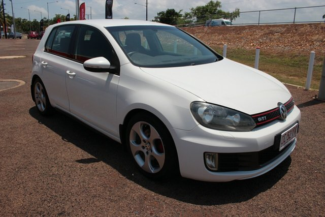 Pre-Owned Volkswagen Golf VI MY12.5 GTi Darwin, 2012 Volkswagen Golf VI MY12.5 GTi White Nova 6 Speed Manual Hatchback