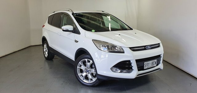Used Ford Kuga TF Trend PwrShift AWD Elizabeth, 2014 Ford Kuga TF Trend PwrShift AWD White 6 Speed Sports Automatic Dual Clutch Wagon