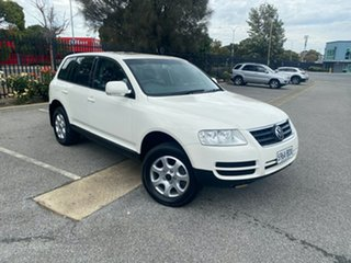 2003 Volkswagen Touareg 7L Luxury 4XMotion White 6 Speed Sports Automatic Wagon.